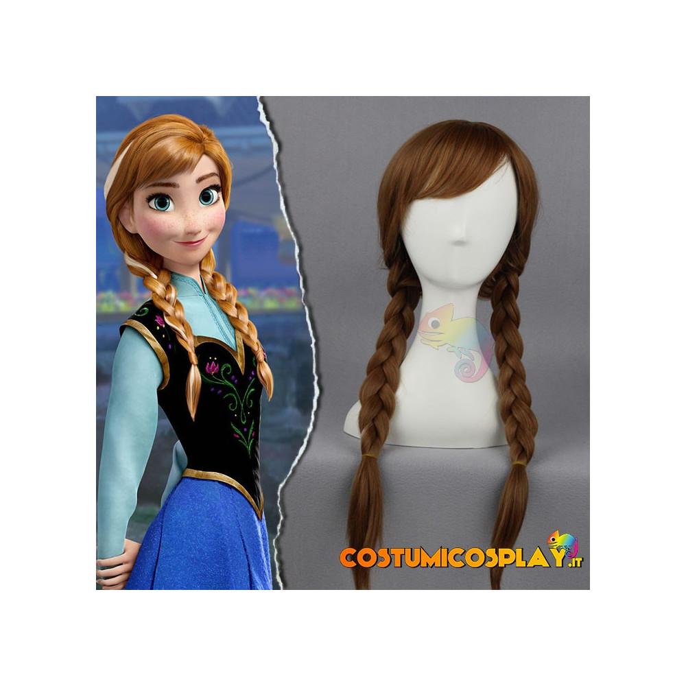 Parrucca cosplay Anna da Frozen