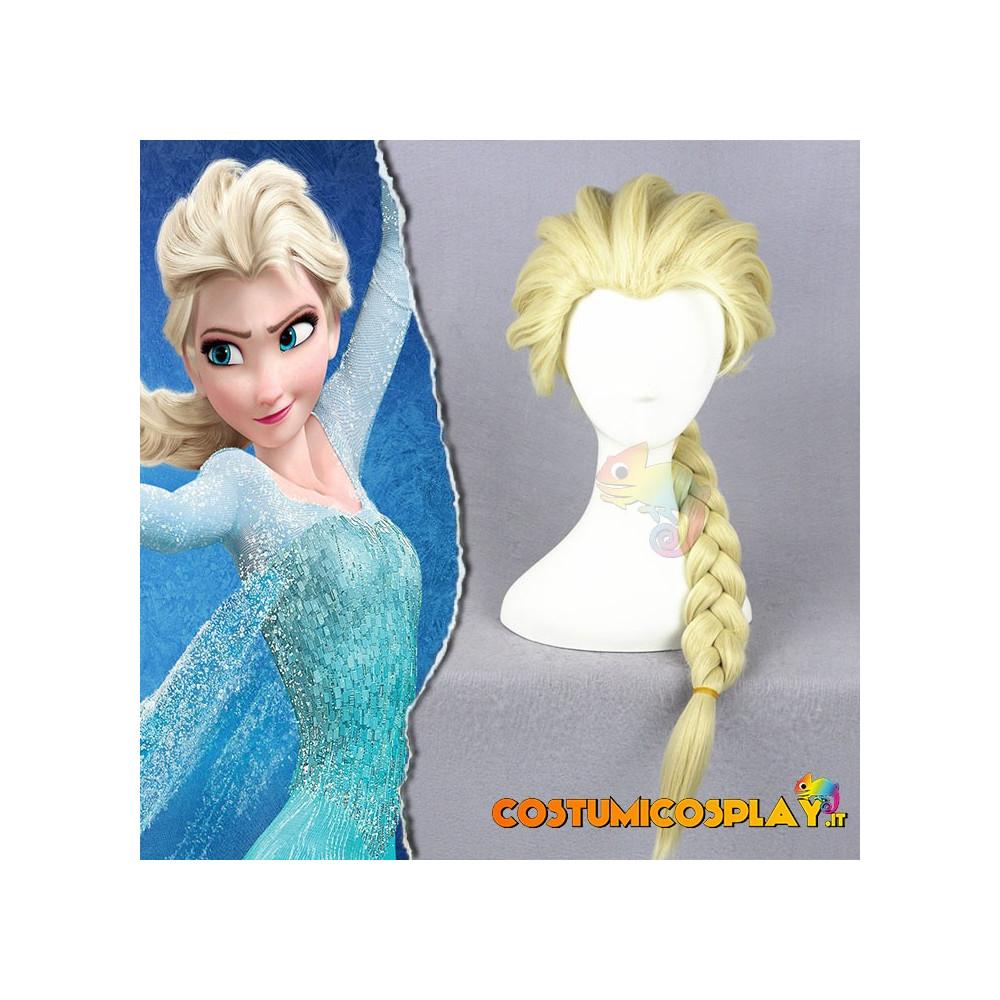 Parrucca cosplay Elsa da Frozen