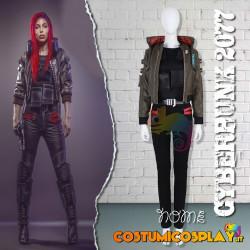 Costume Cosplay Cyberpunk 2077 donna