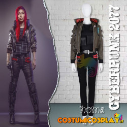 Costume Cosplay Cyberpunk 2077 woman