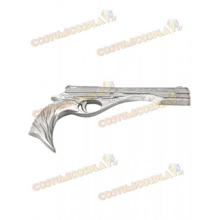 Accessorio cosplay pistola argento Dante Devil May Cry