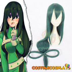 Parrucca cosplay Asui Tsuyu