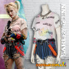 Costume Cosplay Harley Quinn Birds of Prey con t-shirt