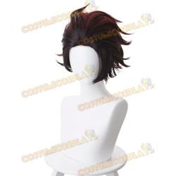 Parrucca cosplay Kamado Tanjirou