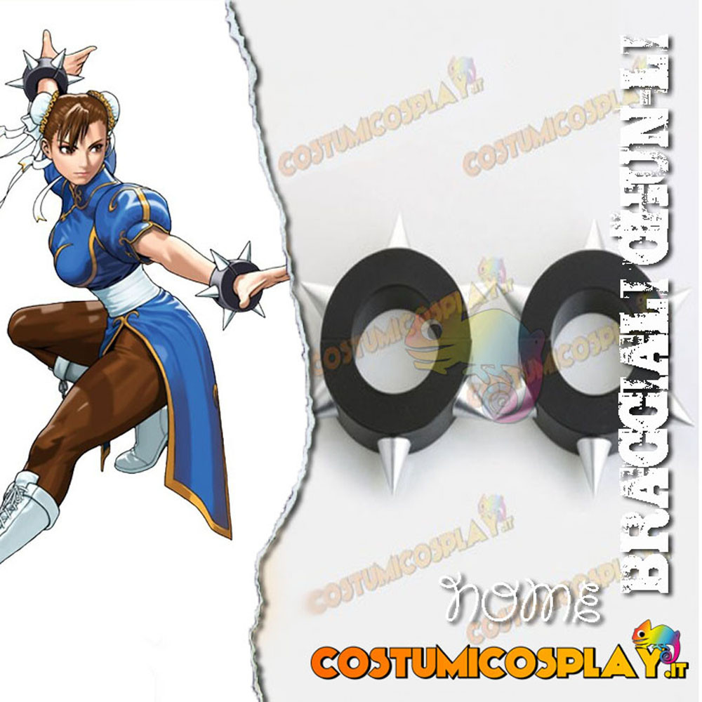 Bracciali cosplay Chun-Li Street Fighter