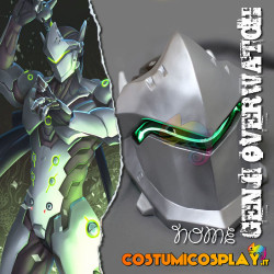 Accessorio cosplay elmetto Genji Overwatch