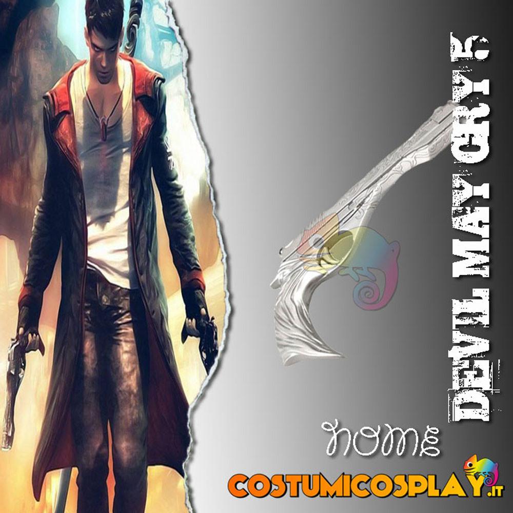 Accessorio cosplay pistola argento Dante