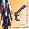 Accessorio cosplay pistola nera Dante