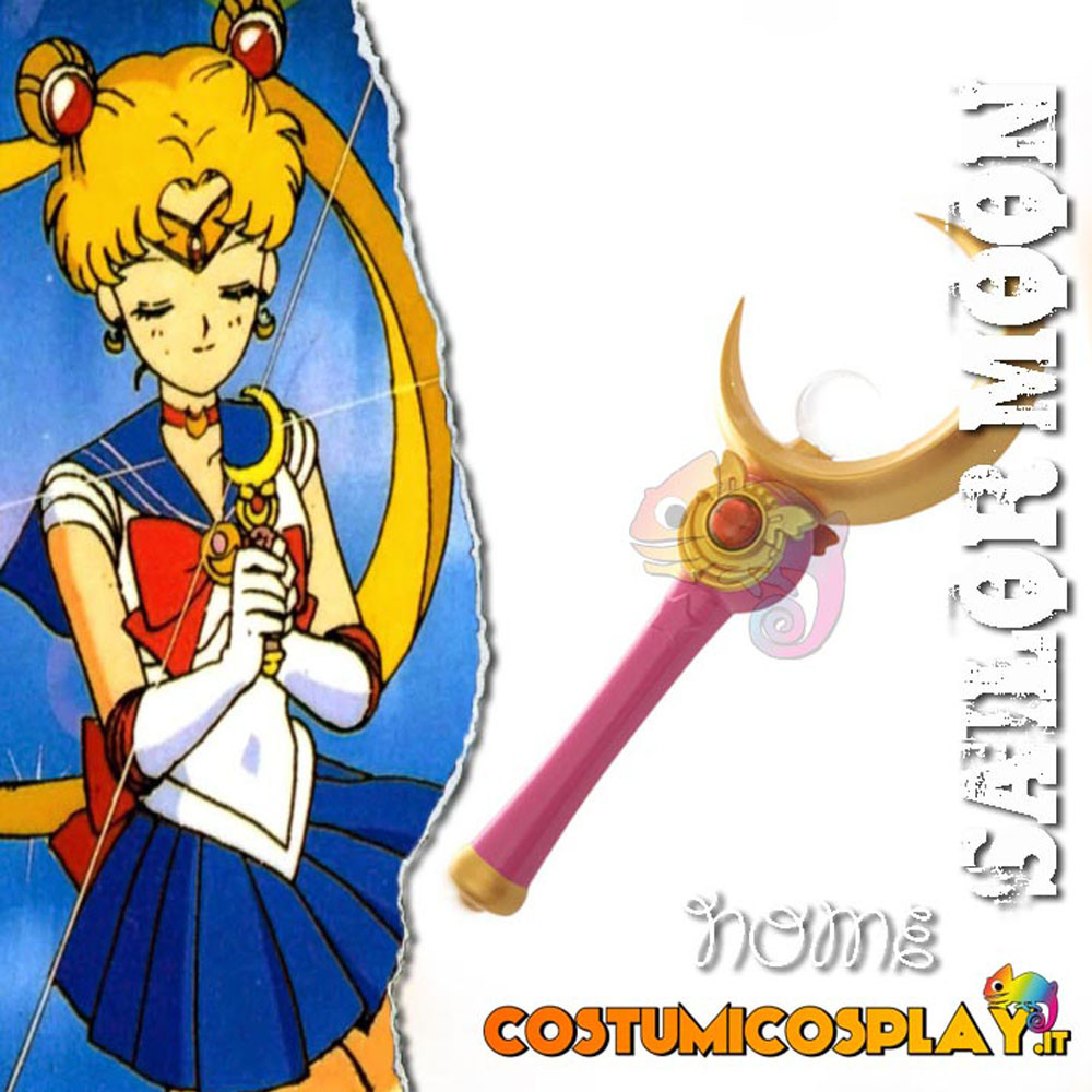 Accessorio cosplay scettro Sailor Moon