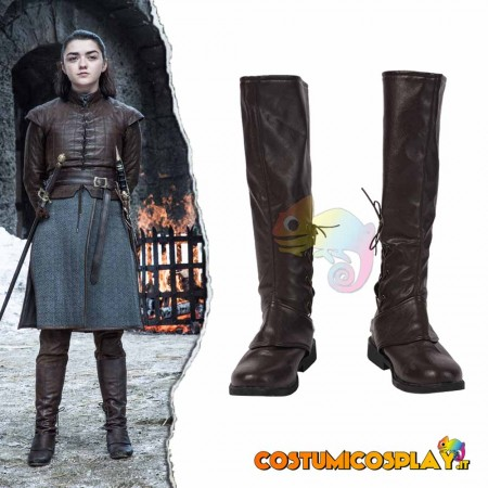 Stivali cosplay Arya Stark da Game of Thrones