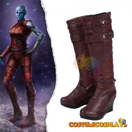 Stivali cosplay Nebulosa Avengers