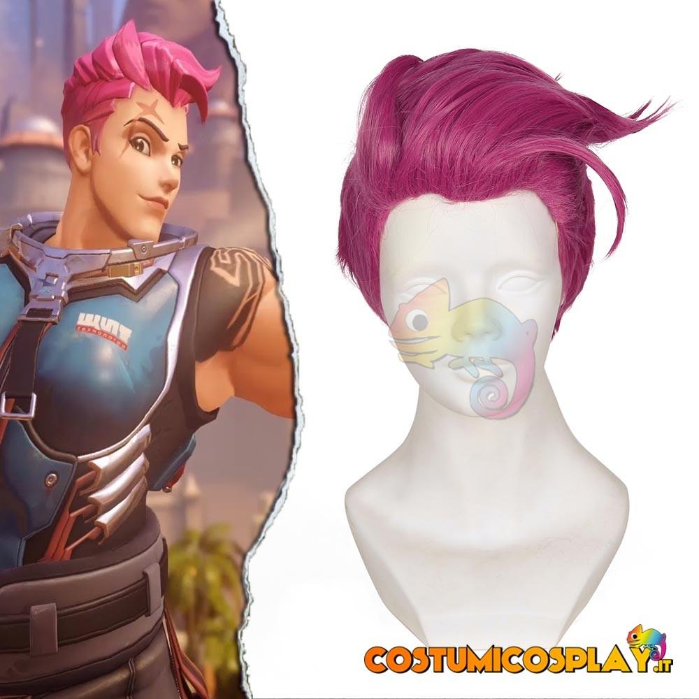 Parrucca cosplay Zarya da Overwatch