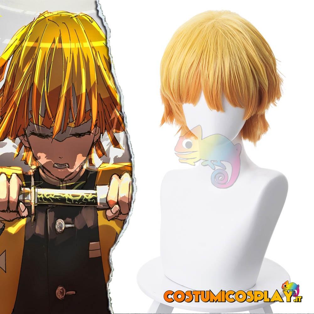Parrucca cosplay Agatsuma Zenitsu Demon