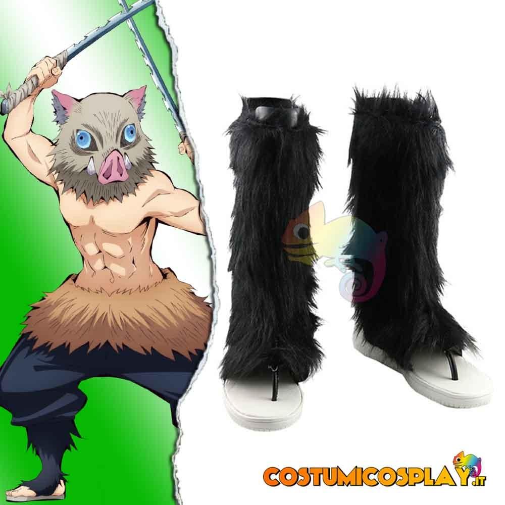 Stivali cosplay con pelo Hashibira