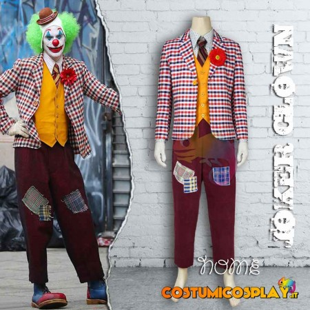 Costume Cosplay Joker versione clown